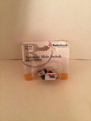 SPST Submini Slide Switch 2 Pk New RadioShack 275-406