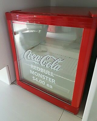 Coca Cola Coke mini Bar Fridge Refrigerator for Drinks with glass door Husky