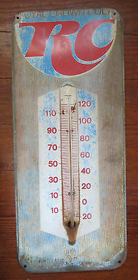 Vintage Rc Royal Crown Cola Advertising Thermometer
