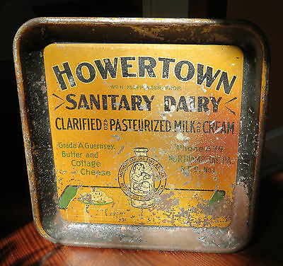 Old Howertown Sanitary Dairy Advertising Tray Northampton Pa