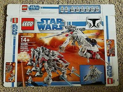 Lego Star Wars Republic Dropship with AT-OT Walker 10195 Box Only
