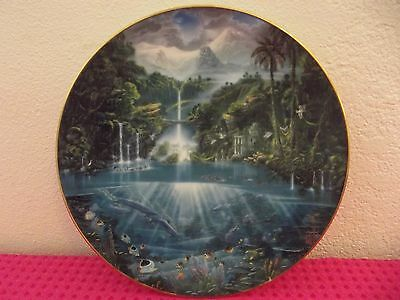 Dolphin Lovers Hamilton Collection Sanctuary of the Dolphins Plate 1993.......3V