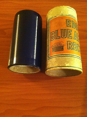 """Antique Edison """"Blue Amberol"""" Cylinder Record: Roll on silver moon, yodel song"""
