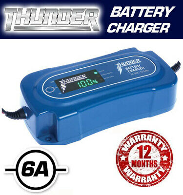 Thunder Battery Charger 12A 12 Amp Gel Lead Acid Agm Calcium