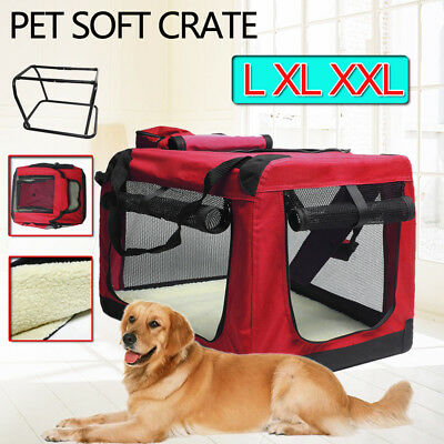 Foldable Pet Soft Dog Cat Carrier Crate Travel Portable Cage Kennel S M L XL XXL