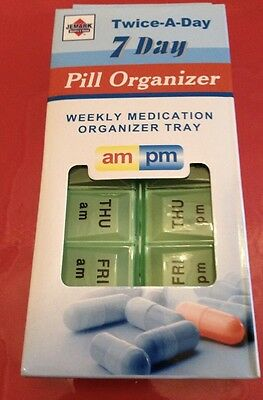 14 Slots 7 Day Tablet Pill Storage Box Weekly Medicine Organizer Container Case