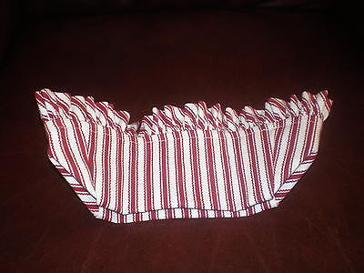 Longaberger Vanity Basket Liner - Red Ticking