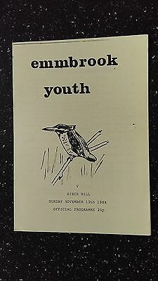 Emmbrook Youth V Birch Hill 1988-89