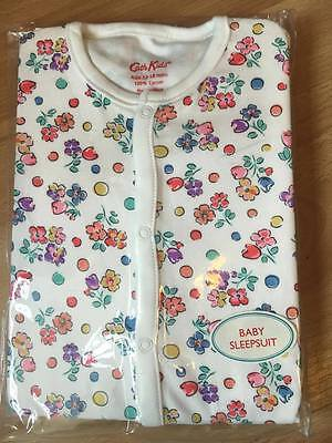 Cath Kidston kids Baby Sleepsuit 12 - 18 months off white spot floral