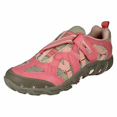 Girls Merrell J85008 Waterpro Z-Rap Strawberry Pink Shoe UK J2.5 J6 (R12A)