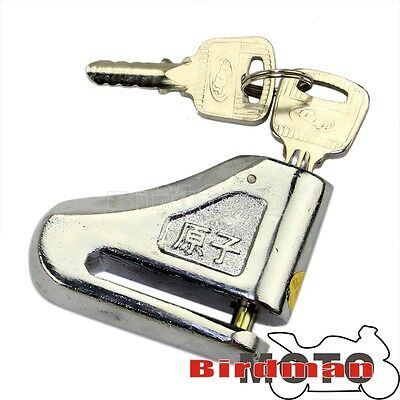 Alarm Disc Lock Anti Theft for Motorcycles Motorbike Scooter Padlock 6mm Pins