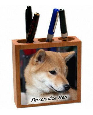 Shiba Inu     ginger color   ( 12 )  Personalized Pencil and Pen Holder