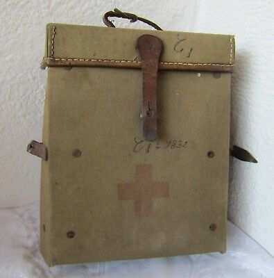 Antique vintage  RUSSIAN soviet army  FIELD MEDIC FIRST AID KIT CANVAS BAG.. /8/