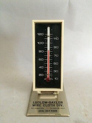 Vintage Mini Thermometer!  Ludlow-Saylor Wire Cloth Div. St. Louis Mo
