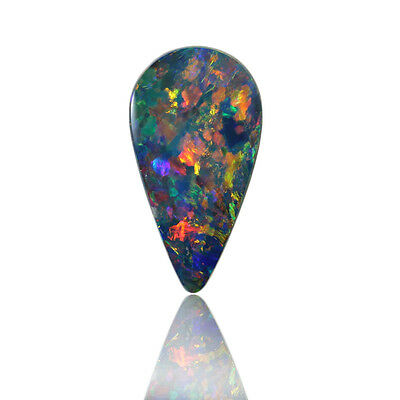 Boulder Doublet Opal with Red, Green & Blue Colours