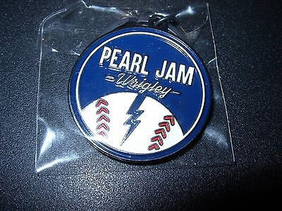 PEARL JAM PJ Logo WRIGLEY FIELD CHICAGO Enamel Keychain merch tour 2016