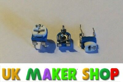 Trimming potentiometer Pack of 5 100 Ohm to 1M Ohm Available