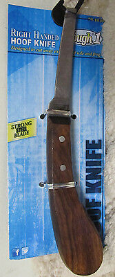 New Tough-1 Wood Handle Narrow Right Handed Steel Blade Hoof Knife