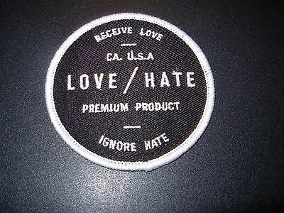 G-EAZY LOVE HATE Circle Embroidered Patch iron on not cd lp When It's Dark Out