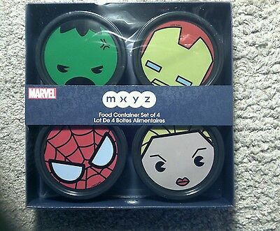 Disney Marvel Food Containers Set of 4 New NIP