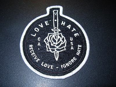G-EAZY LOVE HATE Knife Embroidered Patch iron on not cd lp When It's Dark Out