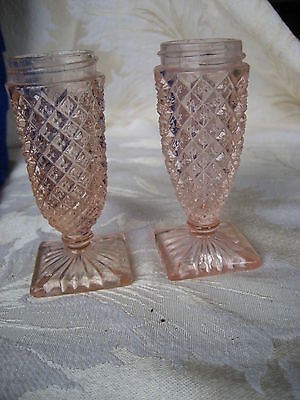 Beautiful Pair of Miss America Pink Salt & Pepper No Lids