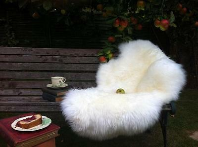 LUXURY Sheepskin Rug XXXL Large! CREAMY WHITE IVORY Soft Thick Wool 100% NATURAL