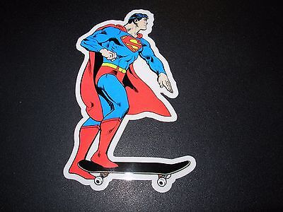 "ALMOST SKATEBOARDS Skate 5/"" Sticker SUPERMAN Comic skateboard helmets decal"
