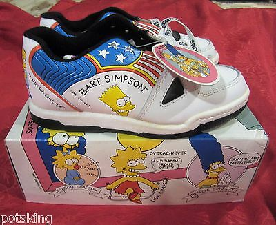 The Simpsons Bart Simpson ULTRA RARE Vintage Sneakers/Shoes NIB 1991 NOS