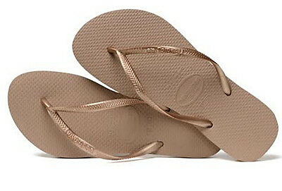 bb4f53ad3 Havaianas Women`s Flip Flops Slim Style Sandals Rose Gold Sexy Sandals NWT
