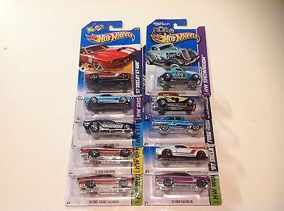 Hot Wheels Lot Of 10 Ford Cars 2012-2014 New In Package