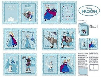 Frozen Anna and Friends Patchwork Fabric Panel Book by Spring Creative