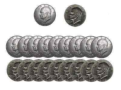 "10D//10P Coins /""Sock Drawer Condition/"" Lot of Eisenhower 1974 /""IKE/"" DOLLAR U.S"