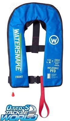 Watersnake Children's Inflatable Life Jacket in Blue BRAND NEW at Otto's