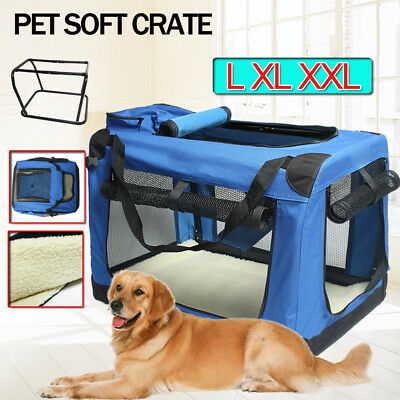 Blue Small Medium Large Pet Dog Portable Folding Travel Carrier Crate Cage Bag