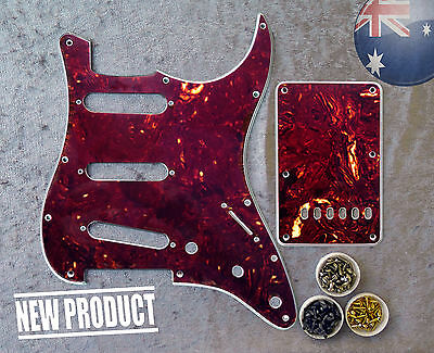 Fender Stratocaster Vintage Tortioseshell Pickguard / Tremolo Cover + Screws