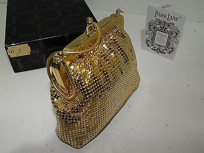Vintage 70s Park Lane Gold Mesh Evening Bag With Box Looks As New