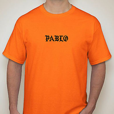 87cabe69f7d9a9 Kanye West The Life Of Pablo Album New Orange Gildan T-shirt Yeezy Yeezus