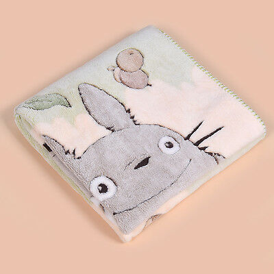 JapanAnime Totoro Blanket Double Layer Coral Fleece Soft Quilt Warm