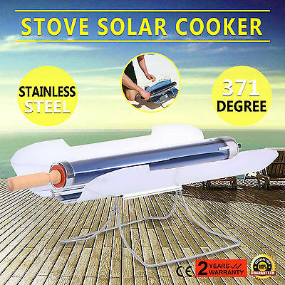 Portable Smokeless Stove Solar Cooker Oven Sun Cooking Camp Barbecue BBQ Grill