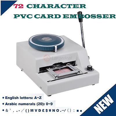 72-Characters Letters Manual Embosser Machine Gift Card Credit ID VIP PVC