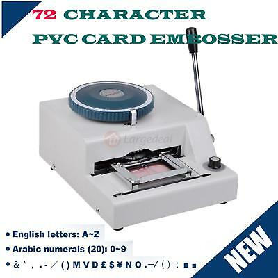 72 Letter Manual Embosser Machine Card ID VIP PVC Gift Credit Stamping Embossing