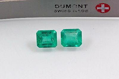 6.5 X 5.5mm 1.85 TCW Emerald Matched Pair Natural Colombian Emeralds Loose Gemst