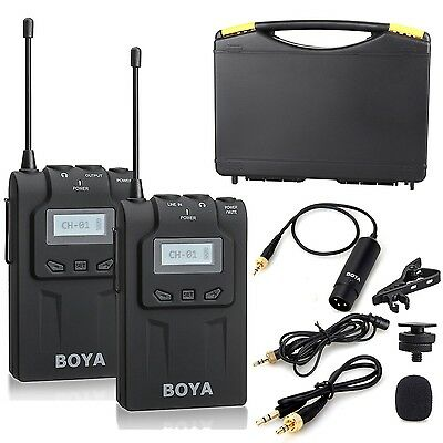 BOYA BY-WM6 UHF Omni-Directional Lavalier Wireless Microphone for DSLR Cameras