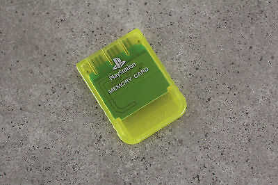 Sony Playstation 1 PS1 Genuine Memory Card (SCPH-1020) See Through Yellow