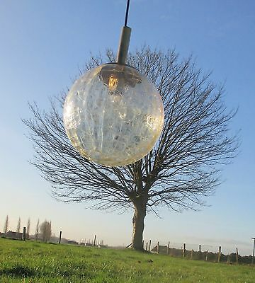 Vintage Crackled iced Glass Chandelier Ceiling Light Lamp Ball