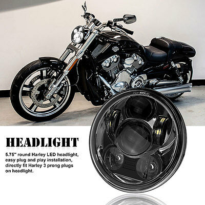 Motorcycle 5.75 Inch LED Headlight Head Light Lamp Projector Daymaker For Harley