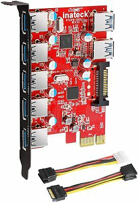 Inateck Internal Superspeed 7 Ports PCI-E to USB 3.0 Expansion Card PCI Express
