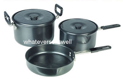 5 PIECE NON STICK CAMPING POTS PAN SET cook set cookware frying chow