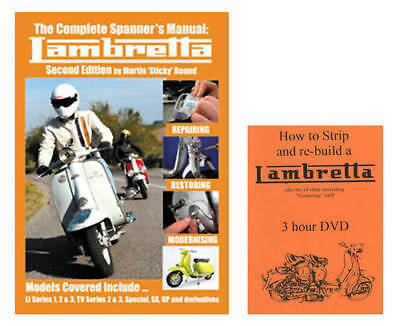✿ Stickys Workshop Manual + DVD .. Lambretta Sticky ✿